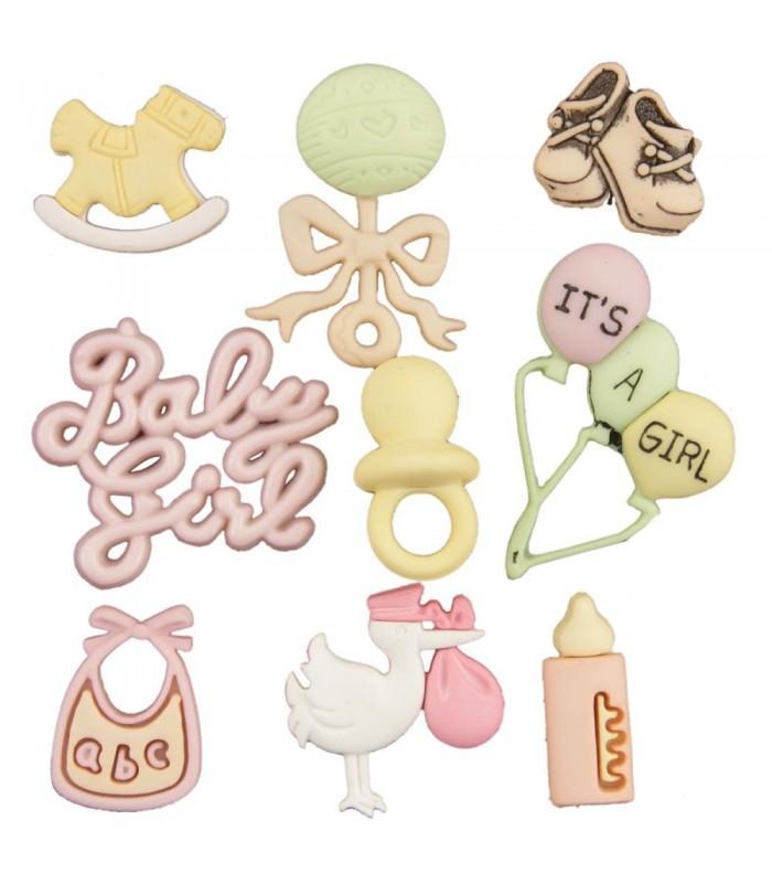 Buttons Galore embellecedores / Baby Girl