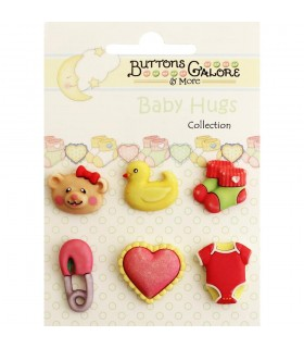 Buttons Galore embellecedores / Baby Girl