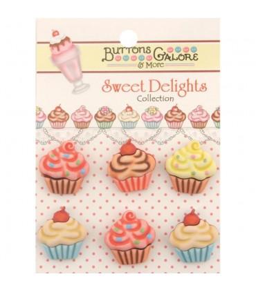 Buttons Galore embellecedores / Cupcakes