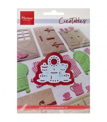 "Marianne Design Creatables Dies Tea For Two 2""X1.5"""