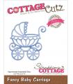 "CottageCutz Troquel / Fancy Baby Carriage 2.3""X2.3"""