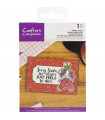 Sentimientos en Ingles/Crafter's Companion Clear Acrylic Quirky Stamp