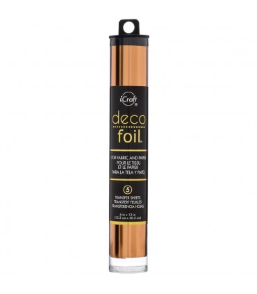 "Deco Foil Transfer Sheets 6""X12"" 5/Pkg /Cobre"